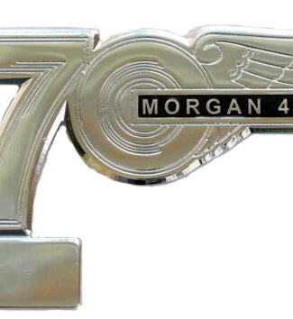 MORGAN 70th ANNIVERSARY  BADGE