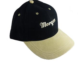 Morgan Script Baseball Cap – sort/beige